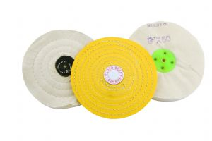 "Buffing Polishing 3 Piece Set, 6"" Soft Calico, Triple Stitched & Cloth Detail Mops. X8105"
